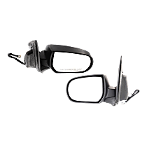 Mirror - Driver and Passenger Side (Pair), Power, Heated, Folding, Textured Black, 2nd Design