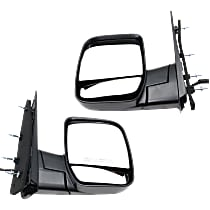 Mirror - Driver and Passenger Side (Pair), Power, Textured Black, With Dual Glass