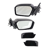 Mirror - Driver and Passenger Side (Pair), Power, Heated, With Paintable and Textured Black Caps, With Puddle Lamp