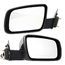 Kool Vue Power Mirror, Driver and Passenger Side, Manual Folding, Non-Heated, w/o Memory & Puddle Light, Paintable