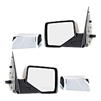 Mirror - Driver and Passenger Side (Pair), Power, With 2 Chrome and 2 Paintable Caps, With Puddle Lamp