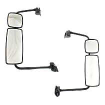 Manual Mirror, Driver and Passenger Side, Manual Folding, With Arm, Chrome