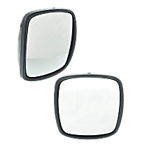 Manual Mirror, Driver and Passenger Side, Manual Folding, Without Arm, Paintable