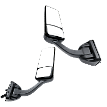 Driver and Passenger Side Heated Mirror - Power Glass, Manual Folding, Without Signal Light, Without memory, Chrome