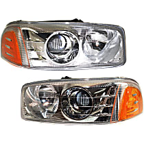 Headlights - Driver and Passenger Side, Pair, For Denali, With Bulb(s)