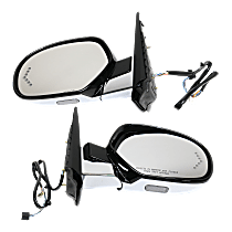 Power Mirror, Driver and Passenger Side, Power Folding, Heated, w/ Memory, Signal In Glass, and Puddle Light, Paintable