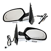 Kool Vue Power Mirror, Driver and Passenger Side, Power Folding, Heated, w/ Memory, Signal In Glass, and Puddle Light, Paintable