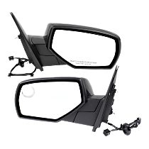 Mirror - Driver and Passenger Side (Pair), Power, Heated, Folding, Paintable, With Blind Spot Glass