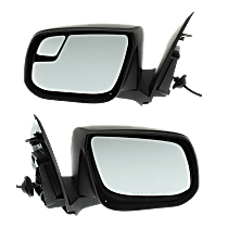 Mirror - Driver and Passenger Side (Pair), Power, Paintable, With Blind Spot Glass, For Models With Second Design Mirror