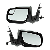 Mirror - Driver and Passenger Side (Pair), Power, Heated, Folding, Chrome, For Models With Second Design Mirror