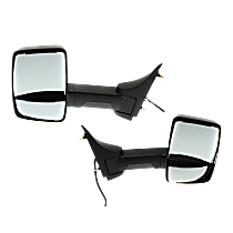 Mirror - Driver and Passenger Side (Pair), Power, Heated, Folding, Textured Black, With Extended Arm
