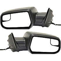 Mirror - Driver and Passenger Side (Pair), Power, Textured Black, With Blind Spot Glass