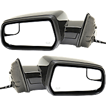 Mirror - Driver and Passenger Side (Pair), Power, Heated, Paintable, With Blind Spot Glass