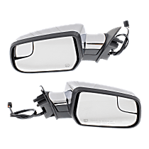 Mirror - Driver and Passenger Side (Pair), Power, Heated, Chrome, With Blind Spot Glass
