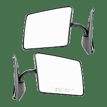Mirror - Driver and Passenger Side (Pair), Folding, Paintable, Below Eyeline Type