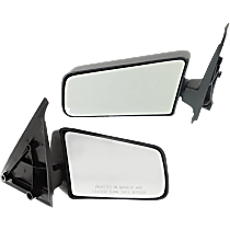 Mirror - Driver and Passenger Side (Pair), Folding, Textured Black, Standard Type
