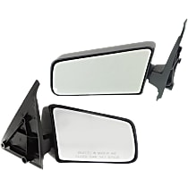 Kool Vue Manual Mirror, Driver and Passenger Side, Manual Folding, Standard Type, Textured Black