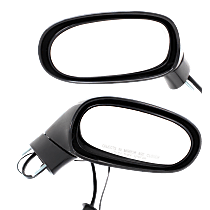 Mirror - Driver and Passenger Side (Pair), Power, Heated, Paintable, w/ Memory, Models With Satellite Radio