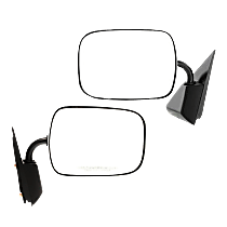 Mirror - Driver and Passenger Side (Pair), Chrome, Type1 (Gooseneck Style)