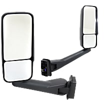 Driver and Passenger Side Heated Mirror - Manual Glass, Manual Folding, Without memory, Paintable