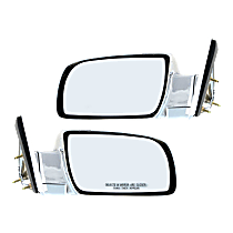 Mirror - Driver and Passenger Side (Pair), Chrome, Type2 (Standard Style)
