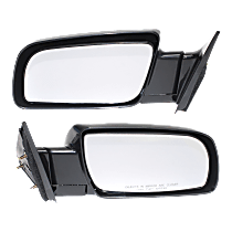 Manual Mirror, Driver and Passenger Side, Manual Folding, Standard Type, Paintable