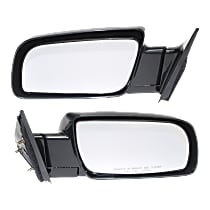 Kool Vue Manual Mirror, Driver and Passenger Side, Manual Folding, Standard Type, Paintable