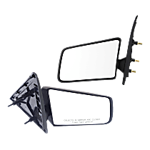 Mirror - Driver and Passenger Side (Pair), Folding, Textured Black, 94 Style