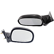 Mirror - Driver and Passenger Side (Pair), Folding, Paintable, Below Eyeline Type