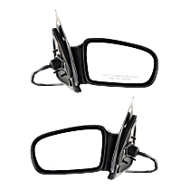 Power Mirror, Driver and Passenger Side, Coupe, Non-Folding, Non-Heated, Paintable