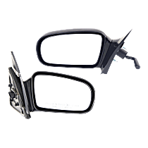 Manual Remote Mirror, Driver and Passenger Side, Coupe, Non-Folding, Paintable