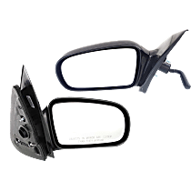 Manual Remote Mirror, Driver and Passenger Side, Sedan, Non-Folding, Paintable