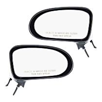 Manual Mirror, Driver and Passenger Side, Non-Folding, Non-Heated, Paintable