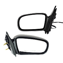 Mirror - Driver and Passenger Side (Pair), Manual Remote, Folding, Paintable