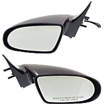 Kool Vue Manual Remote Mirror, Driver and Passenger Side, XFI/LSI Models, Non-Folding, Paintable