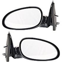 Kool Vue Power Mirror, Driver and Passenger Side, Manual Folding, Non-Heated, Paintable