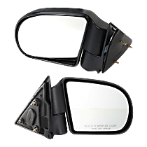 Mirror - Driver and Passenger Side (Pair), Folding, Textured Black, 98 to 04 Style