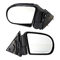 Kool Vue Manual Mirror, Driver and Passenger Side, Manual Folding, Below Eyeline Type, Textured Black