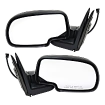 Kool Vue Power Mirror, Driver and Passenger Side, Manual Folding, Non-Towing, Non-Heated, Chrome