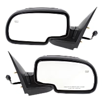 Kool Vue Power Mirror, Driver and Passenger Side, Manual Folding, Non-Towing, Heated, Chrome