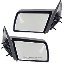 Manual Mirror, Driver and Passenger Side, Manual Folding, Sport Type, Paintable