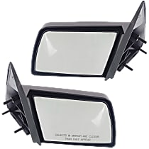 Kool Vue Manual Mirror, Driver and Passenger Side, Manual Folding, Sport Type, Paintable