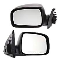 Kool Vue Manual Mirror, Driver and Passenger Side, Manual Folding, Textured Black