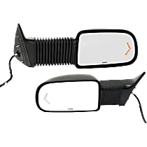 Mirror - Driver and Passenger Side (Pair), Towing, Power, Heated, Textured Black, With Turn Signal, Camper Type