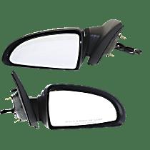 Mirror - Driver and Passenger Side (Pair), Power, Chrome, For Sedan