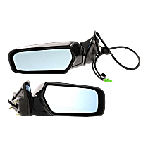 Mirror - Driver and Passenger Side (Pair), Power, Heated, Folding, Paintable, With Memory