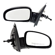 Kool Vue Manual Remote Mirror, Driver and Passenger Side, Hatchback/Sedan, Manual Folding, Paintable