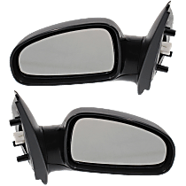 Mirror - Driver and Passenger Side (Pair), Power, Heated, Folding, Paintable, For Hatchback
