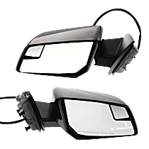 Mirror - Driver and Passenger Side (Pair), Power, Heated, Folding, Paintable, With Turn Signal and Blind Spot Glass