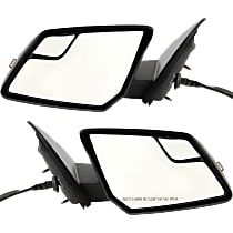 Kool Vue Power Mirror, Driver and Passenger Side, Power Folding, Heated, w/ Signal, Paintable